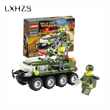 Mini Military Armored Assemble Tank Car Army Model Plastic Blocks Eductional Building Blocks Kids Gifts