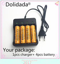4pcs Dolidada Brand new battery 18650 3.7V 9900 MAH Li ion rechargeable battery 18650 batery +18650 battery charger intelligent(China)
