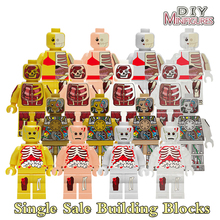 Building Blocks Figures Anatomy Dissection Star Wars Super Heroes Action Bricks Learning Educational Kids Toys Hobbies DIY Gift