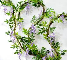 "Long 180cm 71"" free shipping 7 Colors home wedding decorative fake silk flowers rattan High Artificial wisteria flower vine"