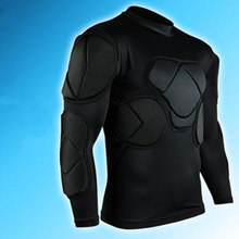 2017 new padded soccer goalkeeper jersey men sports safety protection thicken gear t-shirt elbow football jerseys vest protector(China)