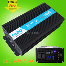 LED Display High Frequency 1500w off grid Pure Sine Wave solar Inverter DC to AC voltage converter home generator car inverter(China)
