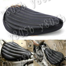 Chopper Cruisers Leather Solo Spring Seat For Harley Davidson Sportster XL883 1200 48 72 Dyna Wide Glide Cruisers(China)