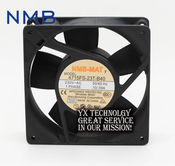 NMB The new 4715FS-23T-B40 12038 12CM 230V 0.10A / 0.09A fan  120*120*38mm<br>