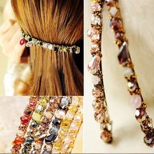 1 pcs Hot Sale Women Girls Korean Fashion Crystal Rhinestone Barrette Hairpin Clip Hair A184-2