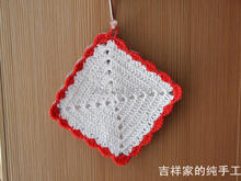 2015 new free shipping cotton crochet lace doilies as home decor 6 pic/lot colorful coasters place mat tea table pad vase mats