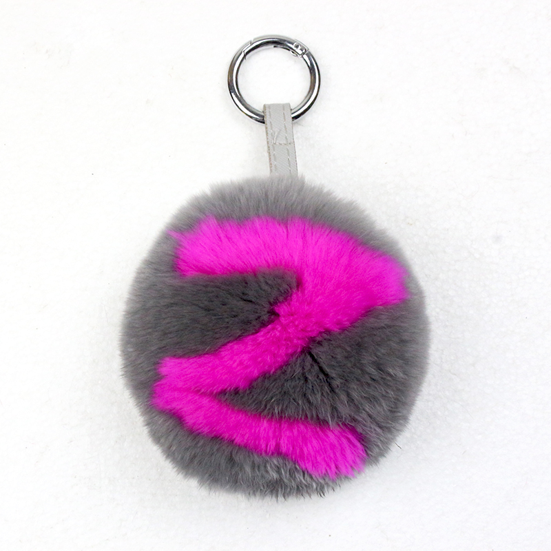 A-Z Letters Real Rabbit Fur Small 10Cm Ornament*