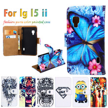 Superb Sheath Flip Holster For LG Optimus L5 II 2 E450 E460 4.0 Inch Case DIY PU Painted Leather Hot Selling Anti-knock Cover