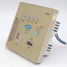 86 type Home Smart Wall Socket Panel WiFi Wireless Router Repeater 300Mbps with glod Color(China)
