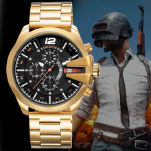 Buy 2018 Skone Luxury Brand Men's Watches Gold Black Stainless Steel Chronograph Quartz Clock Male Famous Design Business Watch Man for $18.50 in AliExpress store