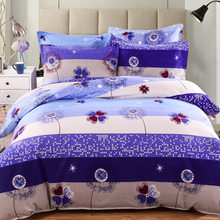 Free Shipping Modern Style Cotton Polyester Duvet Cover Set Bed Sheet Pillow case King Size Super Soft Bedding Sets CZ130(China)