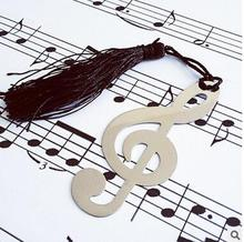 fashion musical note bookmark for wedding decoration baptism favors and gifts recuerdos para bautizo baby shower(China)