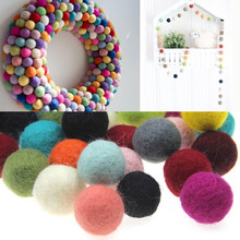 100% Wool Felt Balls - 20pc Round Wool Felt Balls Pom Poms Mixed color wholesale 15MM 20MM 30MM(China)