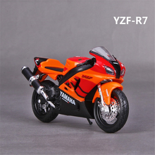 1/18 2016 Yamaha YZF R7 Motorcycle Diecast Motorbike Model w Removable Base giocattolo Christmas Kids Gifts Collection