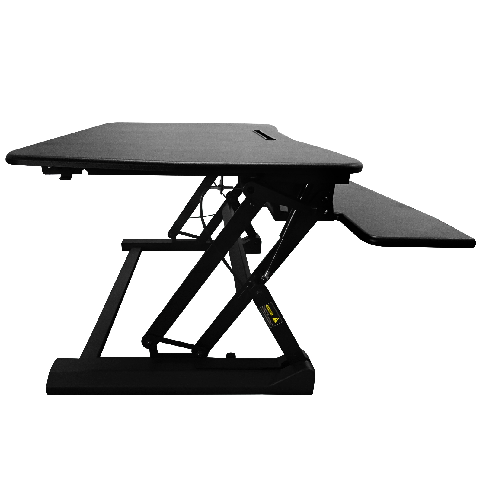 90x59CM Adjustable Height Stand Up Desk TV Stand Computer Office Laptop Workstation Holder black white MAYITR
