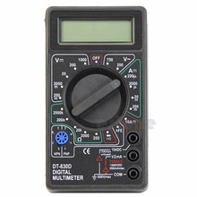 DT-830D Digital Multimeter with Buzzer Square Wave Output Voltage Ampere Ohm Tester Probe DC AC LCD Overload protection