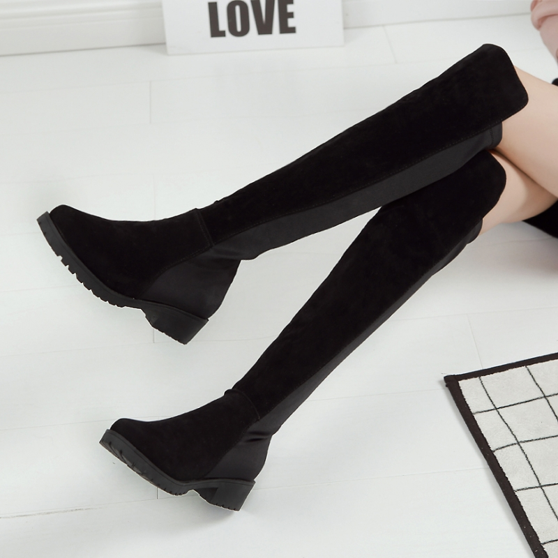 Winter Women Snow Boots Over The knee Boots Sexy Thigh High LOWLAND Black Boot Fashion Woman High Boots Shoes Fur Warm<br><br>Aliexpress