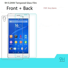 Z1 Front back Anti-shatter Proof Film Tempered glass screen protector For Sony Xperia Z1 L39H C6902 C6903 c6906 Retail Packaging