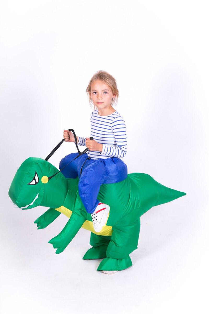 halloween realistic dinosaur costume 112m child dinosaur costume party cosplay inflatable dinosaur costume adult