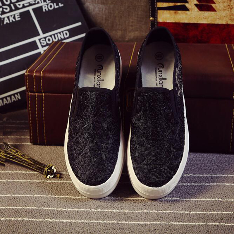 2017 New Spring  Women Flat Shoes Muffin Platform Loafers Shoes For Female Casual White Black Women Lazy Loafers Shoes XP35<br><br>Aliexpress