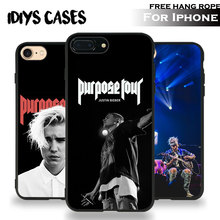 Justin Bieber Popular Superstar Free Hang Rope Tpu Soft Silicone Phone Case Cover Shell Bag For Apple iPhone 5 SE 5S 6 6S 7 PLUS