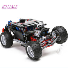 BOJIALE Decool 3340 Model building kits city hummer car super jeep 3D blocks Educational toys hobbies(China)