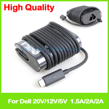 30W 5V 2A 12V 2A 20V 1.5A USB-C type C AC power adapter HA30NM150 24YNH 0F17M7 for Dell Latitude 12 E7275 laptop charger(China)