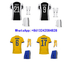 Hot sales 2017 AAA Thai best Quality Juventuses Adult Short sleeve soccer Jersey clothes 17 18 Home Away 3RD free shipping