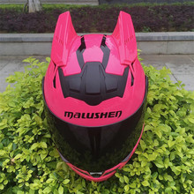 MALUSHEN Motorcycle Helmet Women Moto Helmet Moto Cat Helmet Personality Full Face Motor Helmet 5 Colors Pink Green Blue Orange(China)