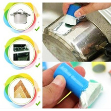 Magic Stainless Steel Metal Rust Remover Cleaning Brush Kitchen/Bathroom Wash Brushes Cleaner Mini Brush Random Color