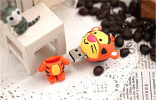 Usb Stick mini cartoon Jump Tiger USB flash drive/creativo pendrive/memory Stick/Disk/Thumb Gift 4GB 8GB 16GB 32GB 64GB S310(China)