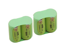2X Original NEW 2*2/3AA 600mAh 1.2V NIMH Rechargeable Battery Pack With Pin For Philips razor shaver AOB NI-MH Batteries