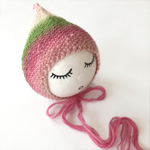 Crocheted Pointed Baby Bonnet Hat Newborn Photography Props Accessories Colorful Wool Knitted Hand-woven Baby Hat Cap 0-3 Months(China)