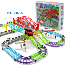 DIY Racing Road Electric Train Track Car Bridge Railway Racing Track Toy Highway Overpass Transportation Building Sets 3 Styles