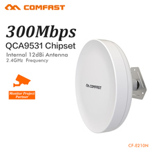 COMFAST 300Mbps Outdoor CPE 2.4G wi-fi Access Point Wireless Bridge 1-3KM Range Extender CPE Router For IP Camera CF-E210N(China)