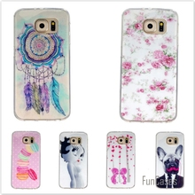 Silicone Soft TPU IMD Rubber Cases For Samsung Galaxy S6 G9200 Cute Bear Owl Cartoon Plastic Phone Protective cover