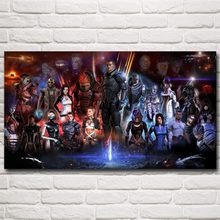 Mass Effect 2 3 4 Shooting Action Game Art Silk Poster Picture Bedroom Living Room Decor 11x20 16x29 20x36 Inches Free Shipping