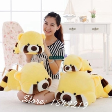 Dorimytrader 35'' / 90cm Large Plush Animal Raccoon Toy Stuffed Soft Cartoon Bear Doll Nice Baby Gift Free Shipping DY61156