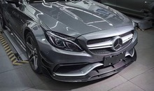 W205 C63 AMG coupe front lip // Brabuss Style //Carbon Fiber Front Lower Splitter For Benz C63 AMG W205 2-Door use only(China)