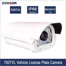 CCDCAM License Car Number Plate Recognition CCTV Sony 700 tvl Vehicle Safety Camera Analog CCD Traffic Camera(China)