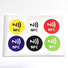 6pcs/Lo NFC Tags Sticker 13.56MHz ISO14443A Ntag 213 NFC Stickers Universal Lable Ntag213 RFID Tag for all NFC enable(China)