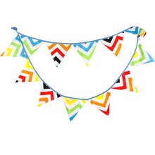 2.8M Rainbow Style Garland Party Pennant  Flags Cloth Banners Birthday Party Decorations Christmas Decorative Mariage Festive