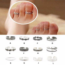 1pcs Wholesale Ring Sets Mix Celebrity Fashion Simple Retro Carved Flower Adjustable Toe/Foot Ring Finger Ring Women Jewelry