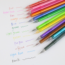 12 Pcs/pack New Cute Small Fresh Candy Color Diamond Color Gel Pen Creative Gift School Supplies Colored Gel Pens