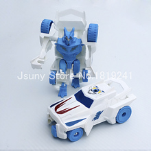 New Hot Transformation Robot Action Figures Toys Changable Deformation Car gift for boySimple cheap car plastic toy soldiers(China)