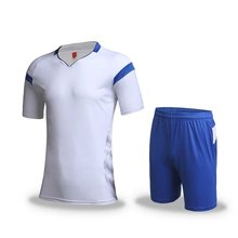 men's training short sleeve jersey breathable running sets sportswear soccer team football kits adult DIY logo good quality v2