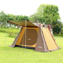 Aluminum rod fully-automatic tent 3 - 4 outdoor camping beach double layer camping tent