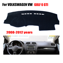 Car dashboard covers For VOLKSWAGEN VW GOLF 6 /GOLF 6 GTI 2008-2012 left hand drive dashmat car pad dash cover auto accessories