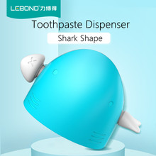 LEBOND Rolling Toothpaste Squeezer Shark Shape Cartoon Toothpaste Dispenser Tooth Bathroom Accessories(China)