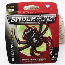 spiderwire fishing line Dyneema PE STEALTH-BRAID ENHANCED STRENGTH CASTABILITY Color-Lock catoing technology  smooth and round